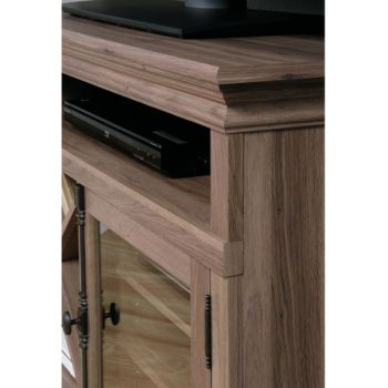 Barrister Lane Corner Tv Stand With Glass Door