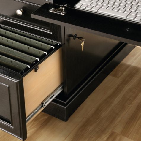 Lockable file drawer