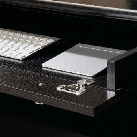 Drop-down keyboard tray
