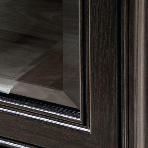 Door frame with glass insert