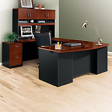 "Executive Bow Front U-Desk with Hutch - 72""W, 8803875"