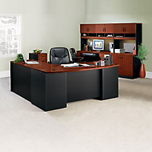 Via Complete L-Desk Office Suite with Locking Files, 8803870