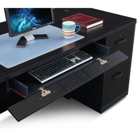Flip down keyboard tray
