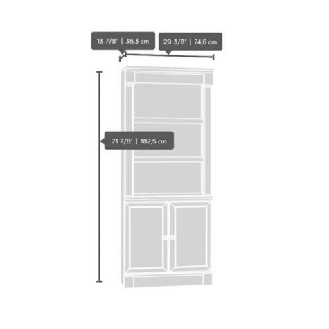 Sauder Avenue Eight Bookcase W Doors 72 Quot H