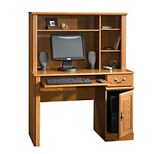 Orchard Hills Small Space Computer Desk with Hutch, SAU-401353