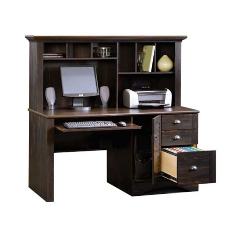 Sauder Harbor View Computer Desk W Hutch Officefurniture Com