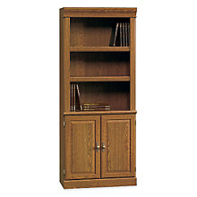 Orchard Hills Five Shelf Bookcase with Lower Doors, 8825803