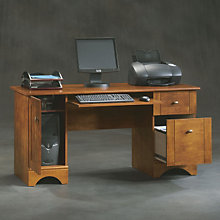 Brushed Maple Computer Desk, 8802584