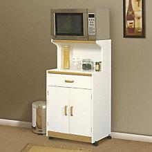 Beginnings Soft White Microwave Cart, SAU-403469