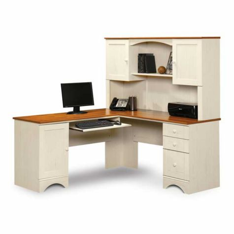 Sauder Harbor View Reversible L Desk W Hutch
