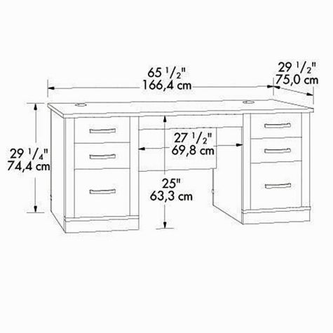 executive desk dimensions