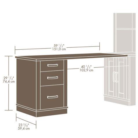 Desk dimensional drawing