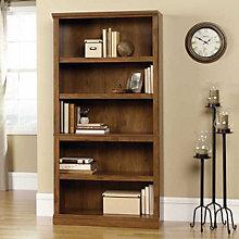 Oiled Oak Finish Five Shelf Bookcase, SAU-410367