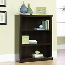 Jamocha Wood Finish Three Shelf Bookcase, SAU-410373