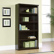Jamocha Wood Finish Five Shelf Bookcase, SAU-410375