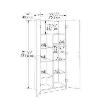 Ebony Ash Storage Cabinet Sau 410814 Officefurniture Com