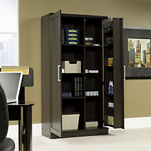office utility cabinets - storage unit cupboards w/locking doors