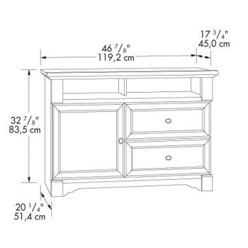 Palladia Highboy Tv Stand Sau 411626 Officefurniture Com
