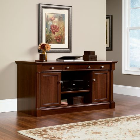 View of fully closed credenza