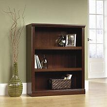 Select Cherry Finish Three Shelf Bookcase, SAU-412808
