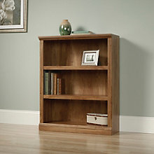 Select Cherry Finish Three Shelf Bookcase, SAU-412808