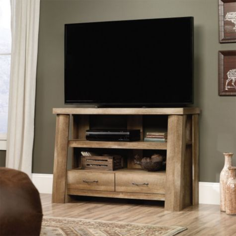 Shown in use as a TV stand