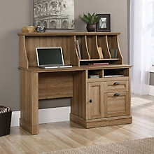 "Barrister Lane Single Pedestal Desk with Hutch- 54""W, 8804373"