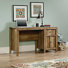 "Dakota Pass Single Pedestal Desk with Two Drawers - 53.125""W, 8805146"