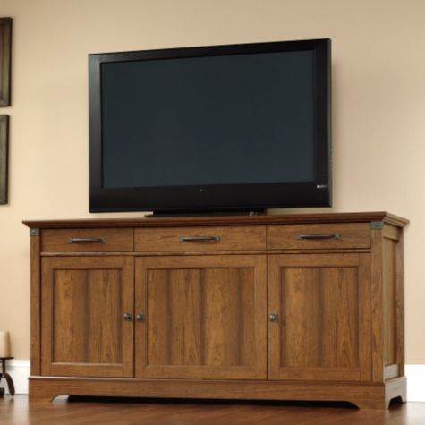 Wood center panel, as a TV stand