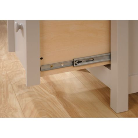 Close up of drawer glides
