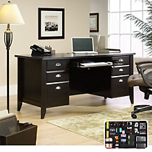 Shoal Creek Executive Desk with Grid-It Desk Organizer, 8804560