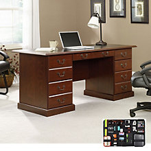 Heritage Hill Executive Desk with Grid-It Desk Organizer, 8804563