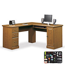 Orchard Hills Compact Computer L-Desk with Grid-It Desk Organizer, 8804565