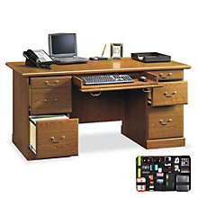 Orchard Hills Double Pedestal Executive Desk with Grid-It Desk Organizer, 8804568