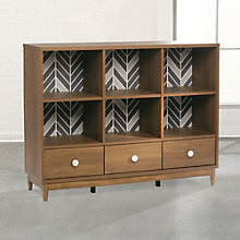"Soft Modern Six Cubby Console Bookcase - 42""H, 8804580"