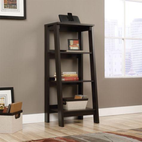 trestle three shelf ladder bookcase 45 25h