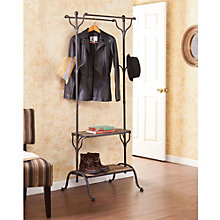 "Double Shelf 68.75""H Hall Tree, 8802692"