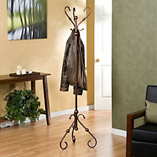 "Decorative Bronze 71""H Coat Tree, 8802742"
