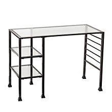 "Randa Glass Surface Writing Desk - 42.75""W, 8802696"