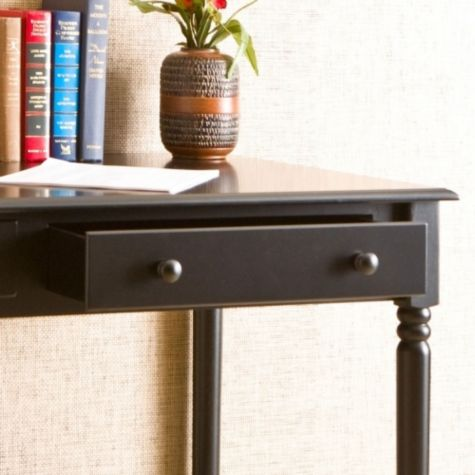 Close Up of Drawer in Black