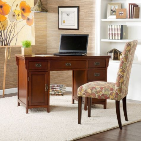 Brown Mahogany Shown in a Home Office