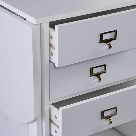 Three Box Drawers with Label Holders