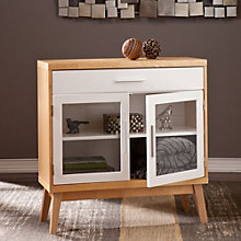 "Halifax Small Glass Door Storage Cabinet - 32.25""H, 8802708"