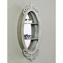 """Oleander Oval Shadowbox Mirror - 36""""H x 15""""W, 8802779"""