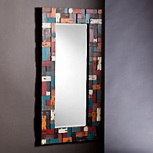 "Dupree Multicolor Framed Mirror - 48""H x 24.25""W, 8802715"