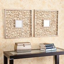 """Cisco Two Piece Antique Bronze Mirror Set - 20""""H x 20""""W each, 8802785"""