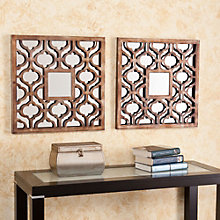 "Otto Set of Two Decorative Mirrors - 20.25""H x 20.25""W each, 8802730"