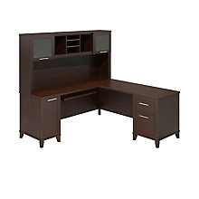 Fully Reversible L-Desk with Hutch, OFG-LD1055