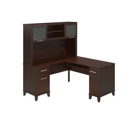 59 Quot Reversible L Desk W Hutch Somerset By Bush