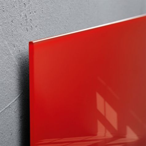 Close up of Red glass edge